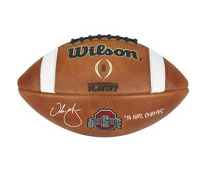 Urban Meyer autographed championship football