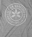The Eleven Warriors Seal on an American Apparel track tee