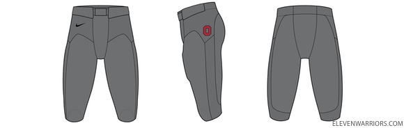 2010 Ohio State Nike Pro Combat Bottoms