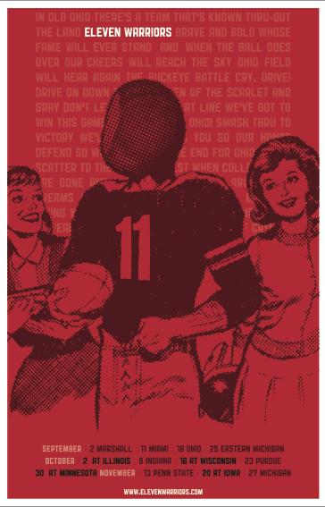 The 2010 Eleven Warriors Schedule Poster