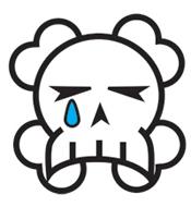 Sad skull is sad