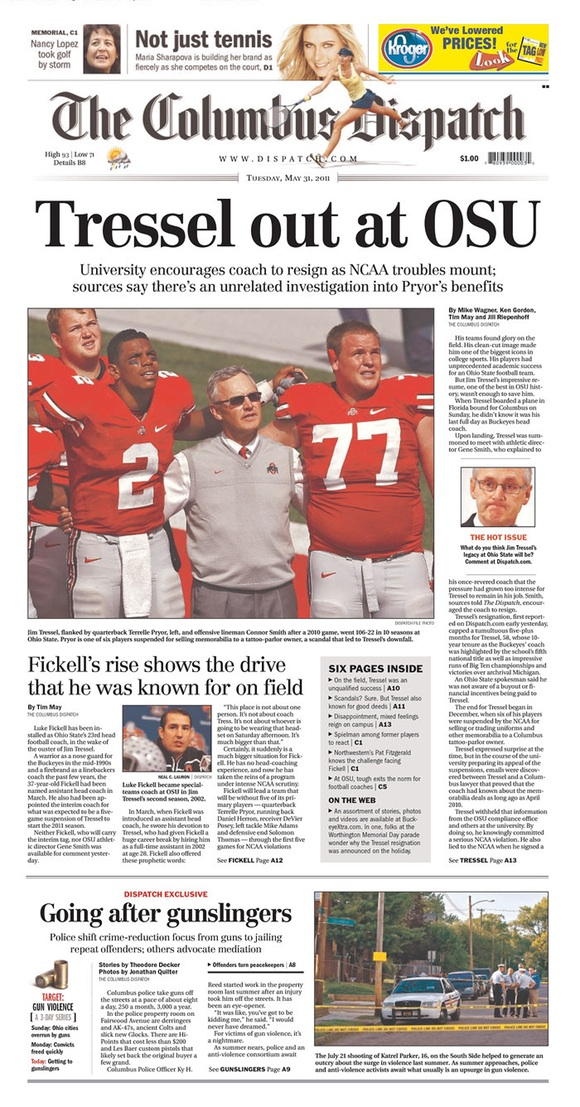 The Columbus Dispatch: Tressel Out at OSU