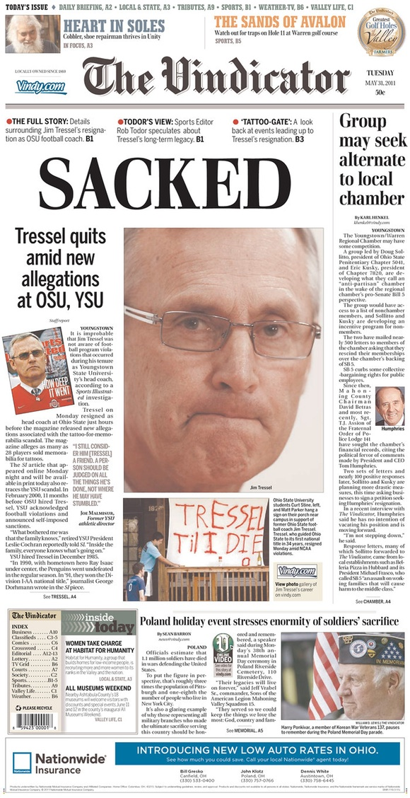 The Youngstown Vindicator: Sacked