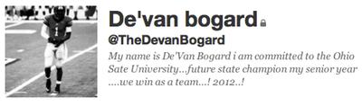 De'van Bogard's Twitter profile says it all
