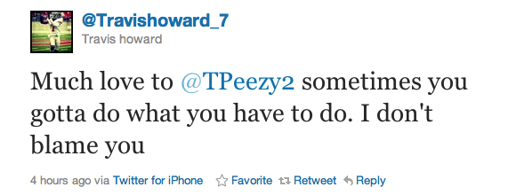 Travis Howard has much love for Pryor