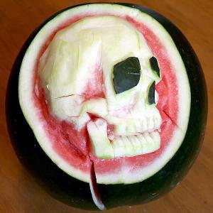 Mmmmmm, skull-termelon.