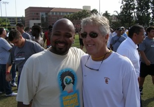 """Houston-area """"scout"""" Will Lyles and former USC coach Pete Carroll"""