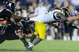Sometimes Denard puts his balls where they aren't supposed to go