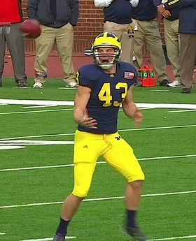 Michigan punter Will Hagerup shat himself on this one.