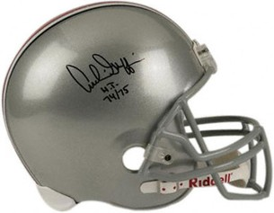 To the winner: An Archie Griffin autographed helmet