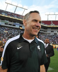 This season, Dantonio smiled more than the OSU fanbase combined