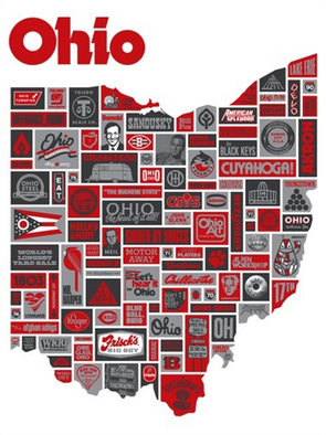 EVERYTHING OHIO POSTER at DRAPLIN DESIGN CO