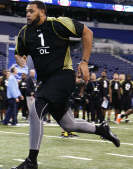 Mike hustling at the combine