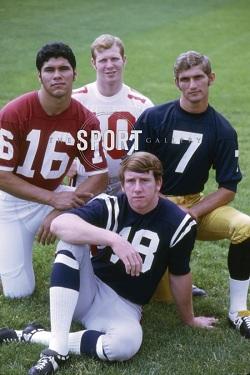 Clockwise from left: Jim Plunkett, Rex Kern, Joe Theisman, Archie Manning. (photo courtesy of heismanpundit.com)
