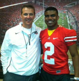 Elliott will be helping Meyer recruit this weekend