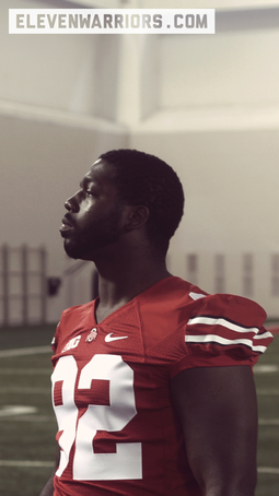Ohio State's Adolphus Washington at Ohio State's 2012 team media day