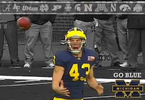 Mortified Michigan Punter GIF 4EVA!
