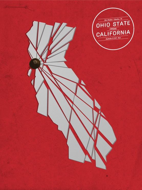 Cal Game Poster by Walt Keys