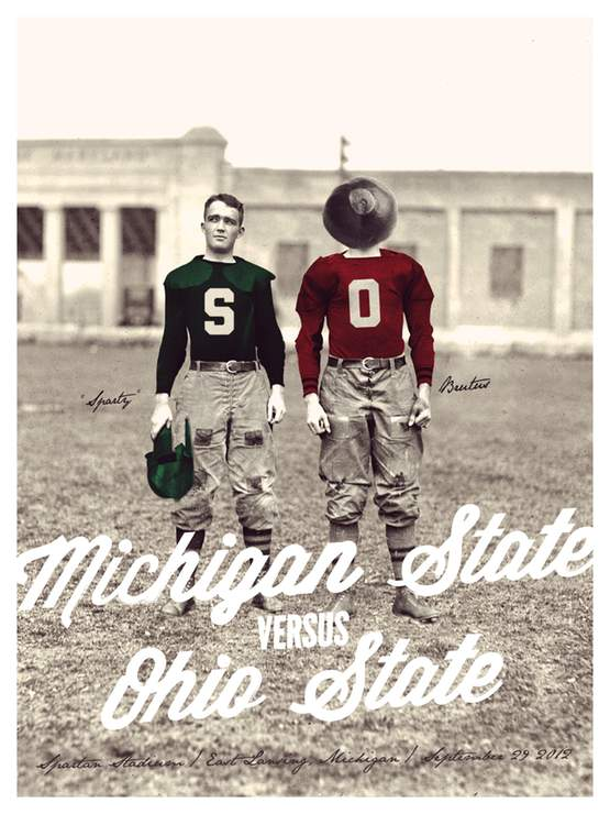 Michigan State Game Poster by Walt Keys