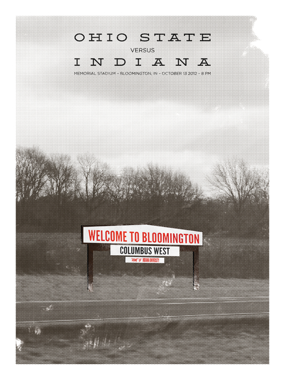 Indiana Game Poster from Eleven Warriors