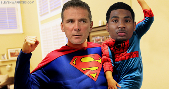 Urban Meyer and Braxton Miller are celebrating Halloween to the tune of 9-0