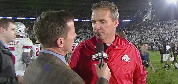Urban Meyer said the Buckeyes wanted to wear out Penn State's defensive line with tempo