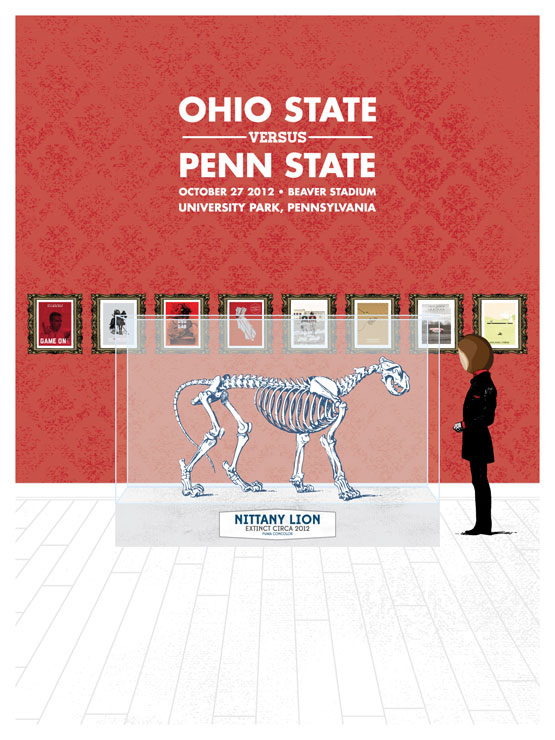 Penn State Game Poster from Eleven Warriors