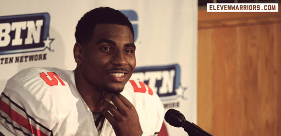 Braxton Miller captures the Big Ten's Offensive Player of the Year Award as a sophomore