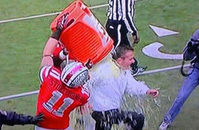 Urban Meyer gets a Gatorade shower after finishing 12-0