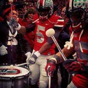 Braxton Miller and Devin Smith on drums