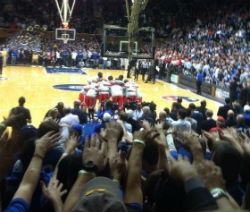 Cameron Crazies getting crazy