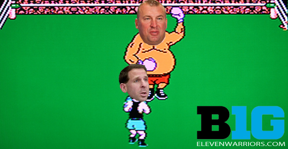 BO PELINI and NEBRASKA vs BRET BIELEMA and WISCONSIN for 12 ROUNDS