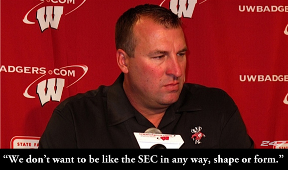 Bret Bielema is off to coach the Razorbacks