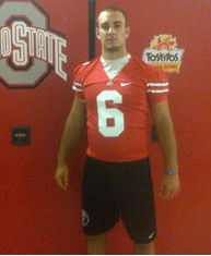 Blazevich looking good in Scarlet and Gray