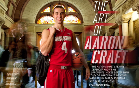The Art of Aaron Craft in the Jan. 28, 2013 Sports Illustrated