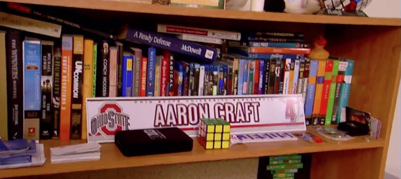 Aaon Craft's bookshelf is smarter than your bookshelf