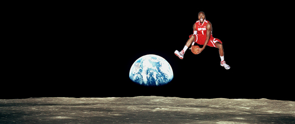Deshaun Thomas jumping from the dark side of the moon