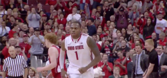 Deshaun Thomas finished with 25 points on 10/17 shooting against Wisconsin