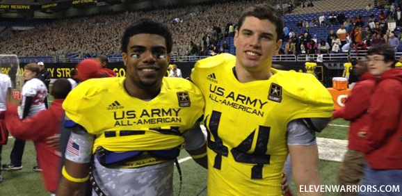 Future Buckeyes Ezekiel Elliott and Mike Mitchell at the US Army All-American Bowl