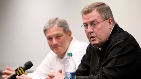 Kirk Ferentz and Greg David discuss their plans for the 2012 season.