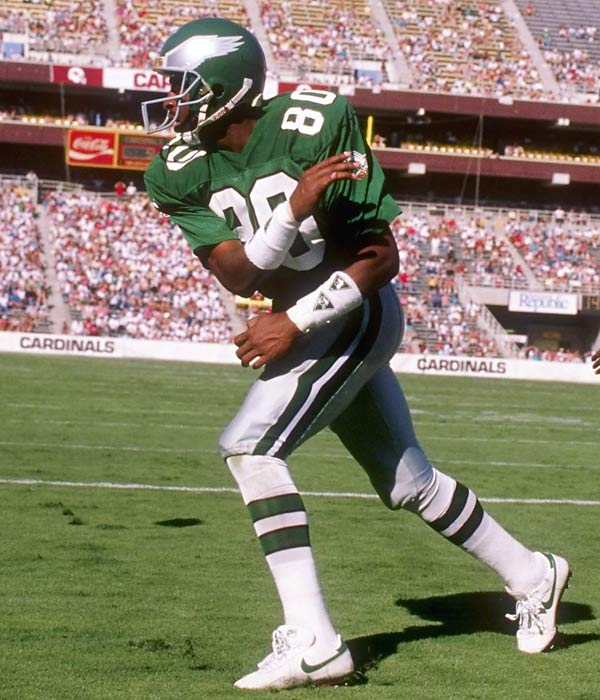 Cris Carter playing for the Philadelphia Eagles