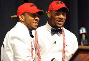 Denzel and Robert Nkemdiche, looking the part of Ole Miss students.