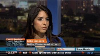 Elika Sadeghi appearing on the Rome Show on CBS Sports Network
