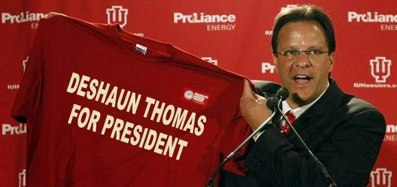 Tom Crean loves him some Deshaun Thomas