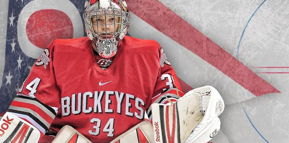 Ohio State goalie Brady Hjelle was named first team All-American
