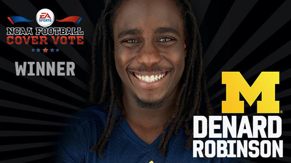 Denard Robinson will appear on the cover of EA Sports NCAA '14
