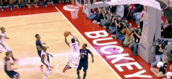 Deshaun Thomas finished on this one... and it was a beauty.