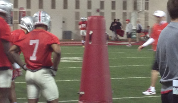 Jordan Hall was on fire in Ohio State's first spring practice