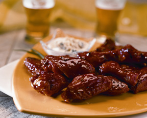 Sizzlin Wings served at the NBA All-Star Game at the Toyota Center