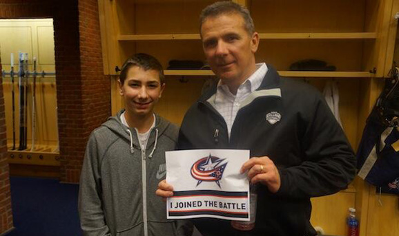 Urban Meyer has your back, Blue Jackets